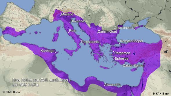 Reich Justinians I, 560 n. Chr.