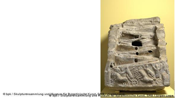 Игральный автомат. Мрамор, 6 век. Музей византийского искусства, Берлин