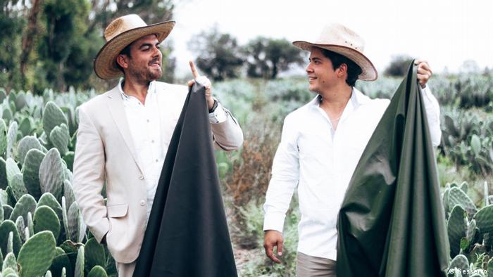 World's first vegan leather created by two Mexican entrepreneurs, Adrian Lopez Velarde and Marte Cazarez