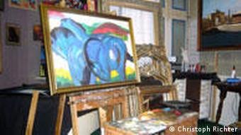 نقاشی بدلی از اسبهای آبی اثر فرانتس مارک. گفته میشود که اصل این تابلو نیز در مجموعه کشفشده، قرار دارد