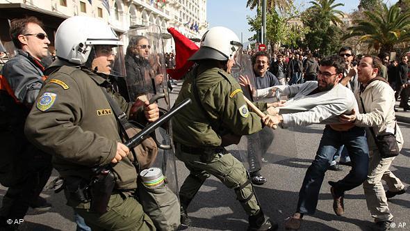 Griechenland Finanzkrise Steiks und Demonstrationen in Athen Flash-Galerie