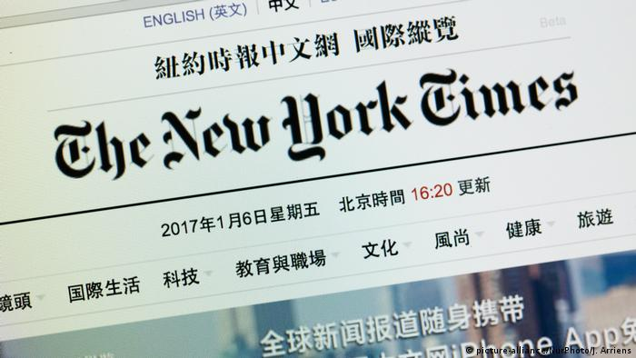 The New York Times - China (picture-alliance/NurPhoto/J. Arriens)
