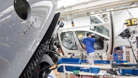 Volkswagen's Golf 8 being produced in Wolfsburg, Germany