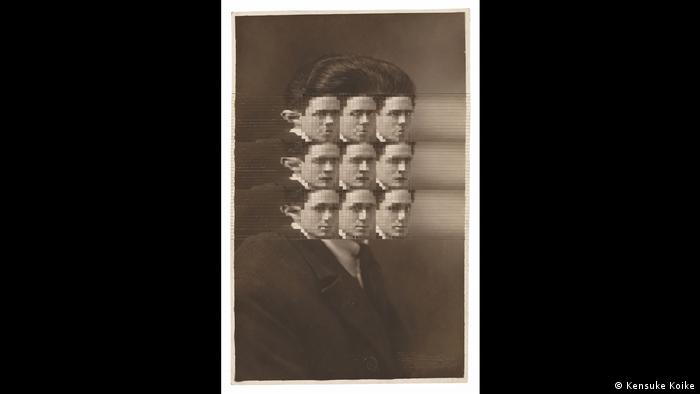 Photo collage of a man whose face can be seen nine times where his face should be (Foto: Kensuke Koike)