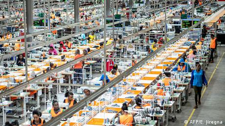 A general view of a garment factory at the Hawassa Industrial Park in Hawassa, southern Ethiopia