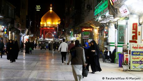 BG Coronakrise | vorher - nachher | Irak Imam Ali Schrein Najaf (Reuters/Alaa Al-Marjani )