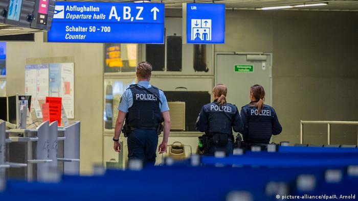 Police at Frankfurt Airport