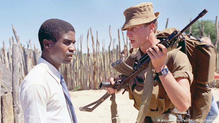 Südafrikanischer Soldat in Namibia (Archivbild)