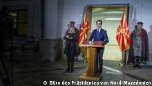 Nord-Mazedonien Ausnahmezustand wegen Coronavirus ausgerufen | Stevo Pendarovski