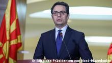 Nord-Mazedonien Ausnahmezustand wegen Coronavirus ausgerufen. Rechte: Büro des Präsidenten von Nord-Mazedonien am 18.3.2020