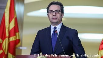 Nord-Mazedonien Ausnahmezustand wegen Coronavirus ausgerufen | Stevo Pendarovski (Büro des Präsidenten von Nord-Mazedonien)