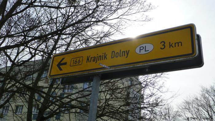 Traffic sign in Schwedt