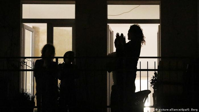 Scena balkonowa w Kolonii, 18.03.2020
