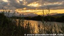 Sumpf im Naturschutzgebiet s'Albufera bei Sonnenuntergang, Spanien, Balearen, Mallorca, Albufera Nationalpark | , wetland in the nature reserve s'Albufera at sunset, Spain, Balearic Islands, Majorca, Albufera National Park | Verwendung weltweit