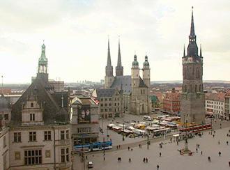 Casco histórico de Halle.