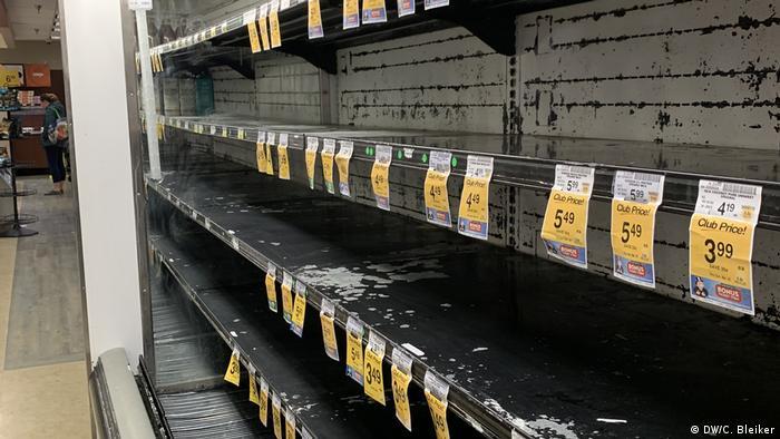 USA Coronavirus Hamsterkäufe im Supermarkt