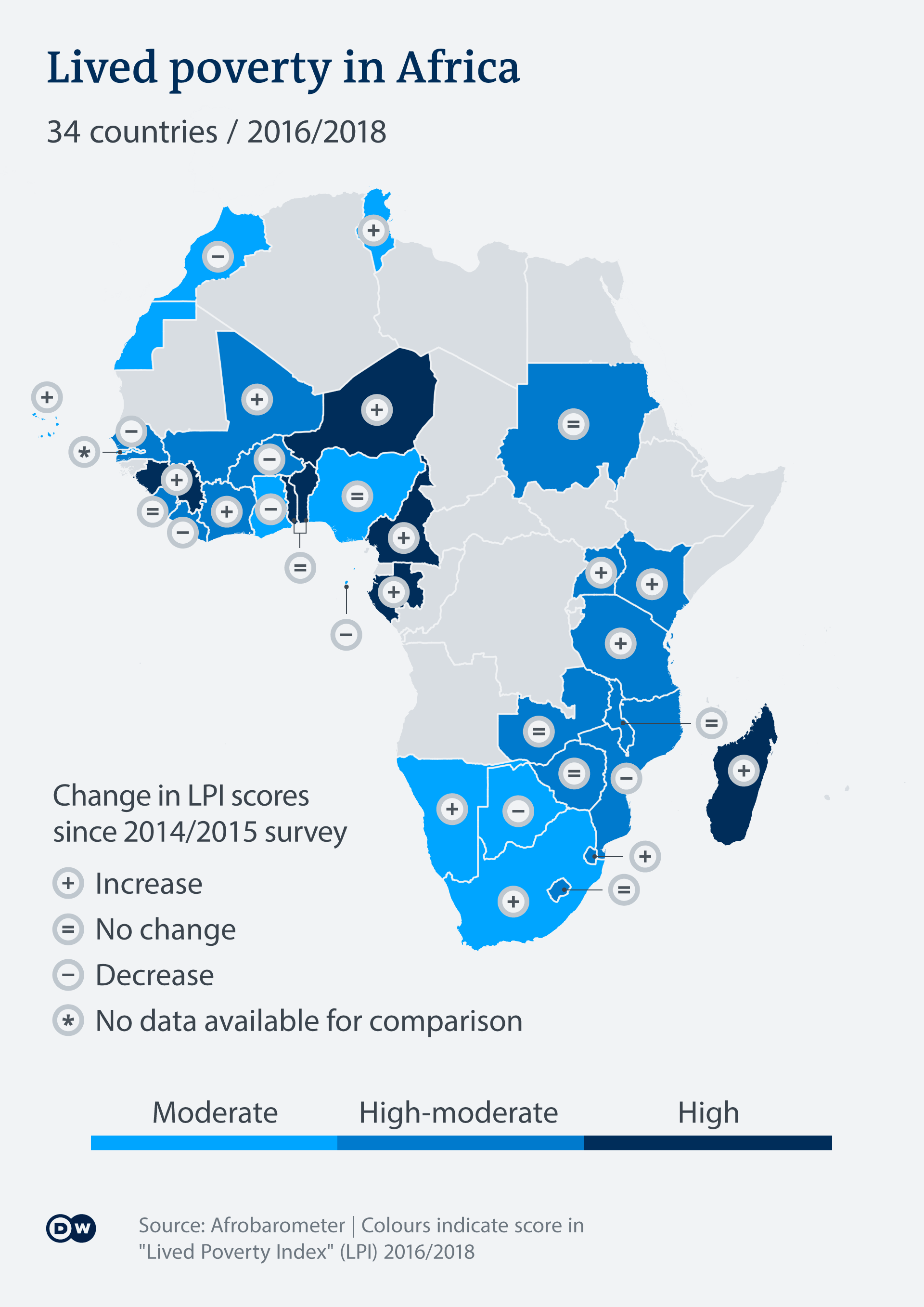 Infografik Karte Alltagsarmut in Afrika EN