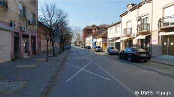 Serbien Coronavirus Stadtzentrum in Kikinda (DW/S. Kljaijc)