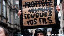 Belgien Frauentag in Brüssel | Erzieht eure Söhne. Schützt eure Töchter