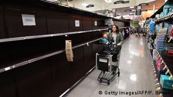 USA: Ausgangsperre in Kalifornien (Getty Images/AFP/F. Brown)
