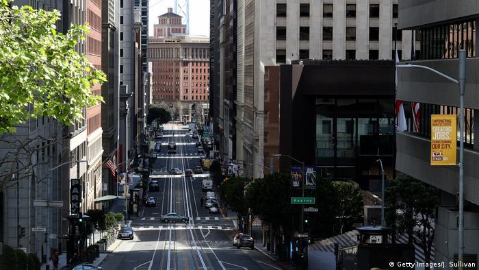 Порожні вулиці Сан-Франциско через поширення коронавірусу