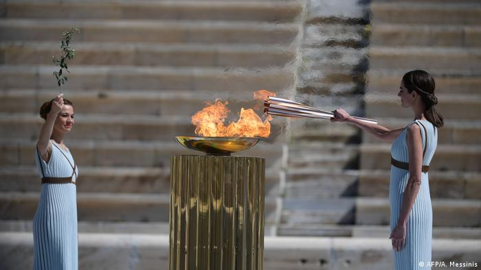 Lighting of the Olympic flame in Tokyo