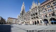 Marienplatz in Munich empty (Imago Images/Zuma/S. Babbar)