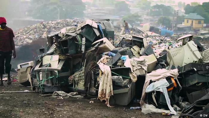 An electronics dump site in Nigeria.
