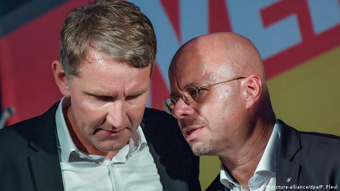 Königs Wusterhausen   Björn Höcke und Andreas Kalbitz