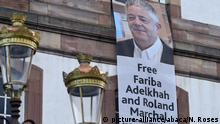 Straßburg Unterstützung für Roland Marchal und Fariba Adelkhah   Inhaftierte in Iran