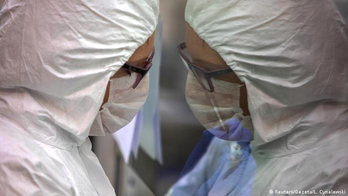 Coronavirus in Polen Poznan Labor testet Blutproben