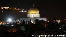 A picture taken on October 3, 2015 shows the golden dome of the Dome of the Rock mosque on the Al-Aqsa mosque compound, in Jerusalem's Old City. AFP PHOTO / AHMAD GHARABLI (Photo credit should read AHMAD GHARABLI/AFP via Getty Images)