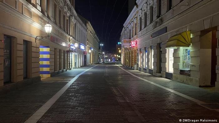Gospodska ulica u Banjauci za vrijeme policijskog časa