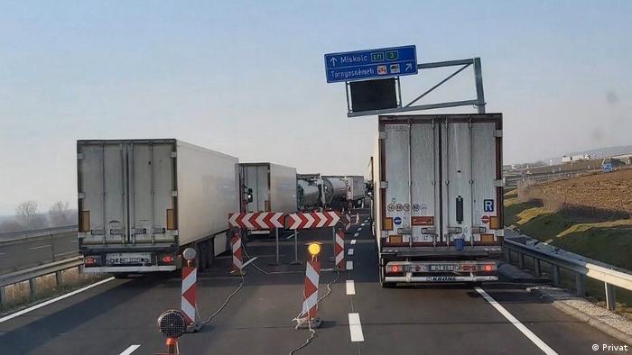 LKW-Stau auf Autobahnen des Balkan