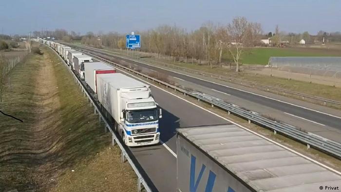 Ungarn LKW-Stau auf Autobahnen des Balkan