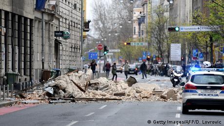 Kroatien Zagreb Erdbeben (Getty Images/AFP/D. Lovrovic)