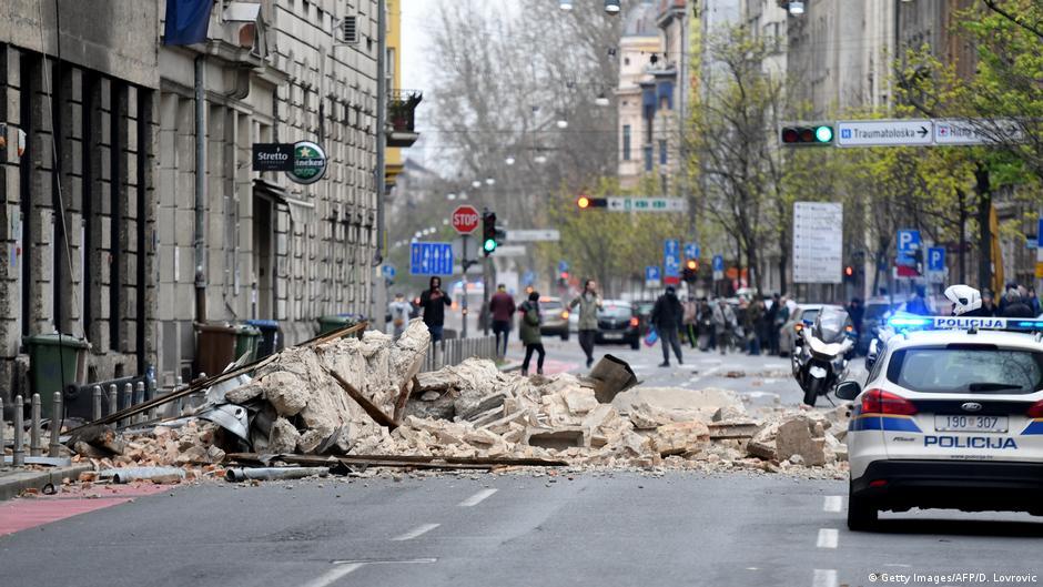 Croatia Rocked By 5 3 Magnitude Earthquake During Coronavirus Lockdown News Dw 22 03 2020