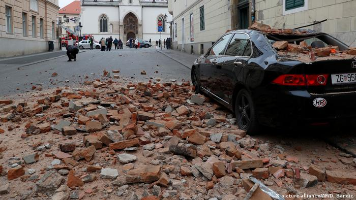 Zagreb, Croatia after the Sunday earthquake (picture-alliance/AP/D. Bandic)