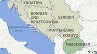 Karte von Mazedonien (Grafik: DW)