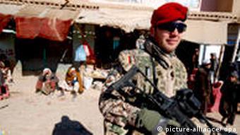 A German Bundeswehr soldier stationed in northern Afghanistan