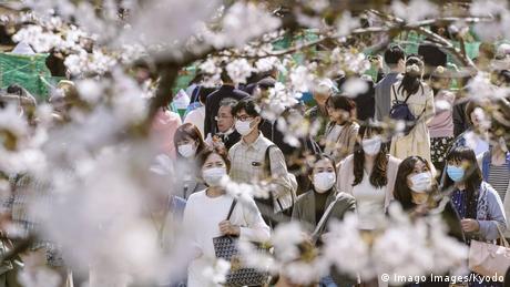 Coronavirus in Japan Tokio Ueno Park Kirschblüte mit vielen Besuchern (Imago Images/Kyodo)
