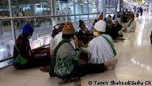 Thailand Bangkok Airport Passagiere aus Pakistan gestrandet