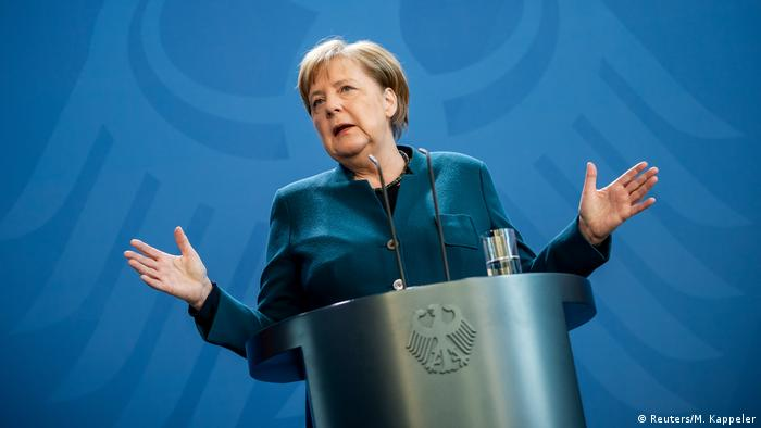 Deutschland PK Coronavirus Angela Merkel Kontaktverbot (Reuters/M. Kappeler)