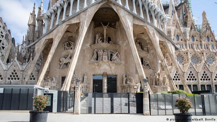 An empty Sagrada cathedral in Barcelona (picture-alliance/dpa/X. Bonilla)