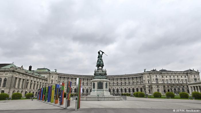 An empty Hofburg in Vienna (AFP/H. Neubauer)
