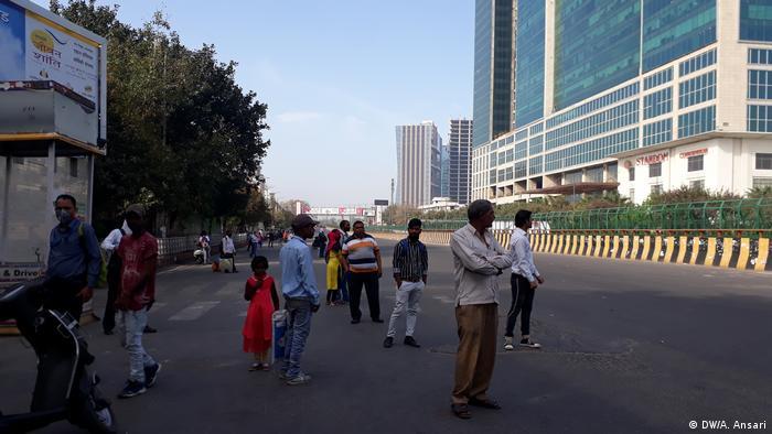 People in Delhi street