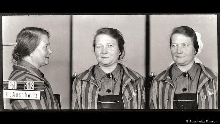 Фото сестры Ангелы из лагерной картотеки Освенцима