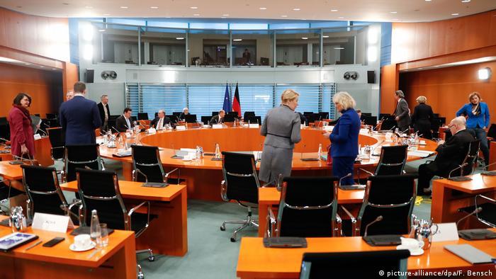 Экстренное заседание кабинета министров ФРГ