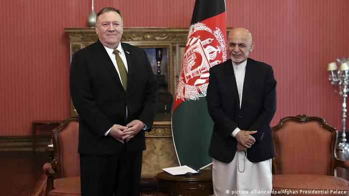 Госсекретарь США Майкл Помпео и президент Афганистана Ашраф Гани