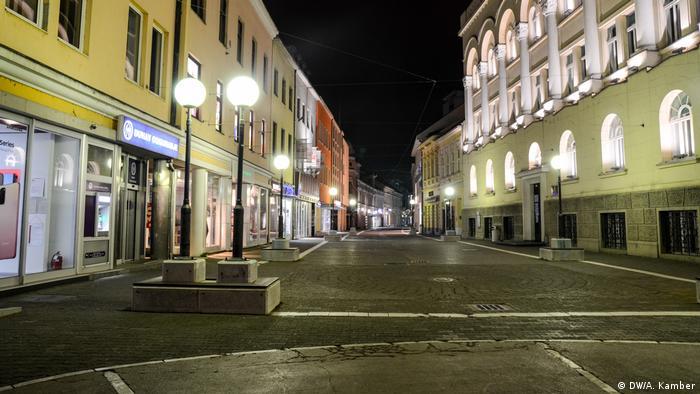 Empty streets in Sarajevo.